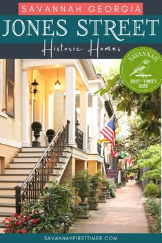 Savannah's beautiful Jones Street is loaded with historic homes, and you can actually stay overnight in many of them! Click to learn about some of the most historic homes on Jones Street and get insider tips about the best Airbnbs on Jones Street. | savannahfirsttimer.com