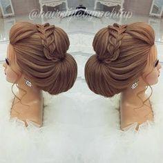 Likes, 35 Comments - Professional Hairstylist ) ( o. - - Likes, 35 Comments - Professional Hairstylist ) ( o - Formal Hairstyles, Bride Hairstyles, Wedding Hair And Makeup, Hair Makeup, Bridal Hair Inspiration, Hair Up Styles, Pinterest Hair, Bridesmaid Hair, Hair Dos