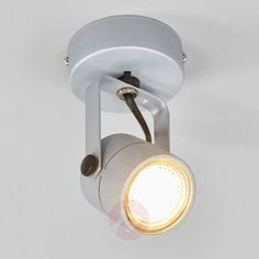 SPOT 79 wall or ceiling lamp silver gray- Applique ou plafonnier SPOT 79 gris argent Wall or ceiling lamp SPOT 79 silver gray by SLV - Office Lighting, Living Room Lighting, Bedroom Lighting, Home Lighting, Track Lighting, Wall Lights, Ceiling Lights, Lighting Solutions, Ceiling Lamp