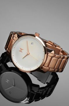 Rose Gold Pearl with subtle, high-quality crafting, and beautiful colors that will shimmer under the evening lights or the gleam of a sunny day. Bring this home, or any of the other watches in our women's collection, with free worldwide shipping from mvmtwatches.com