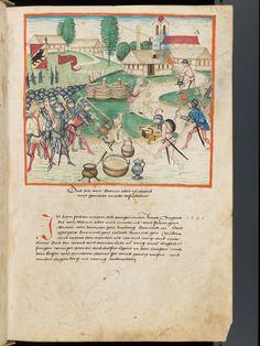Bern, Burgerbibliothek, Mss.h.h.I.1, f. 141 – Diebold Schilling, Amtliche Berner Chronik, vol. 1