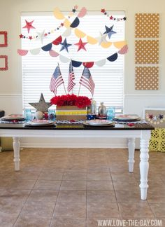 Create a 4th of July Party with Michaels. How to ideas by Love The Day