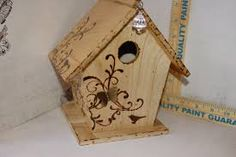 Image result for woodburned birdhouse