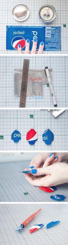 Make a pen nib from a cola can