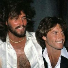 Barry Gibb & Andy Gibb.