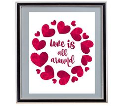 Love is All Around - Instant Download - Digital Art - Valentine's Day by Analiese on Etsy