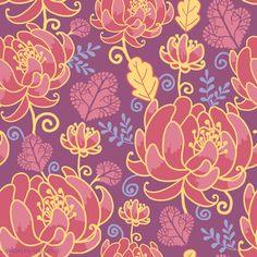 Kimono Pattern, Pattern Art, Pattern Designs, Surface Pattern, Textures Patterns, Print Patterns, Flower Patterns, Oriental Flowers, Art Rules
