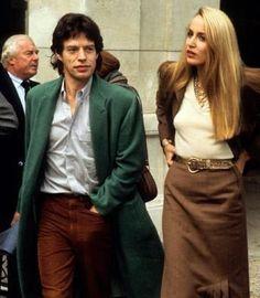 Mick Jagger + Jerry Hall