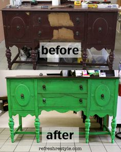 A Buffet Make over {Maison Blanche - St. Anne} - http://refreshrestyle.com