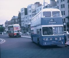 Two Brighton Buses at Old Steine 1971