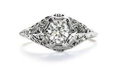gold art deco engagement rings - Google Search