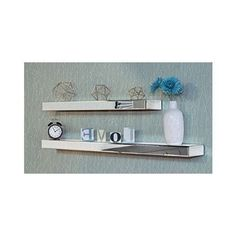 Mirrored Floating Shelf Wall Display Furniture 2 Piece Storage Modern Bathroom #MirroredFloatingShelves #Modern