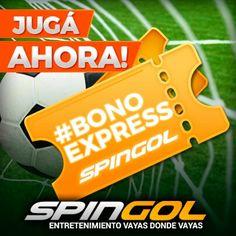 Participa de los concursos express y gana bonos para jugar en spingol.com .