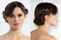 Keira Knightley's twisted-back chignon hairstyle | allure.com