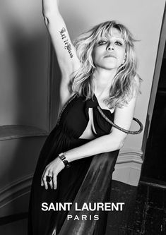 Saint Laurent Music Project    Courtney, Marilyn, Kim and Ariel style themselves in Hedi Slimane's new photo series, premiering here