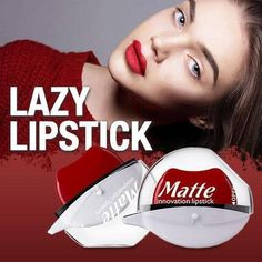Lazy Lipstick The laziest lipstick ever! Even you forgot to bring your mirror, you can still apply the lipstick evenly without any hustle with Lazy Lipstick. It is designed Cakey Makeup, Lip Makeup, Makeup Tips, Contour Makeup, Makeup Geek, Makeup Art, Perfect Lips, Perfect Smile, Lazy