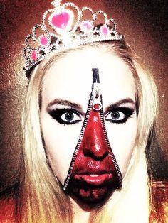 Unzipped Beauty Queen; Halloween Makeup