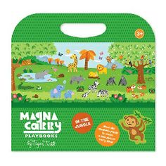 MAGNA CARRY - IN THE JUNGLE - $24.95 - Lions and tigers and bears, oh my! What will you discover in the jungle?   There's so much fun to be had and more room than ever to play with a fold-out double-sided play scene.   Create your own colourful jungle paradise with Tiger Tribe's new Magna Carry - In the Jungle. #sweetcreations #kids #gifts #tigertribe