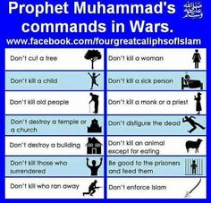 ***IF one sees the opposite of any in the above being carried out, then that is not Islam! It's THAT simple!