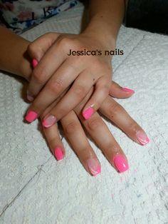ricostruzione gel rosa fluo