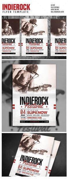 Indie Rock Flyer Template PSD. Download here: http://graphicriver.net/item/indie-rock/15894775?ref=ksioks
