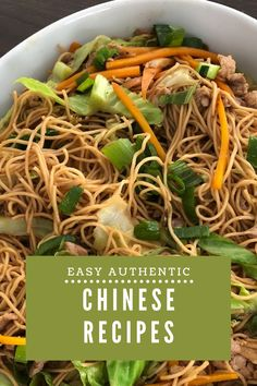 Find easy, authentic Chinese recipes at www.simplyasianhome.com! Home Recipes, Asian Recipes, Ethnic Recipes, Easy Authentic Chinese Recipes, Chinese Food, Japchae, Vegan, Meals, Dishes