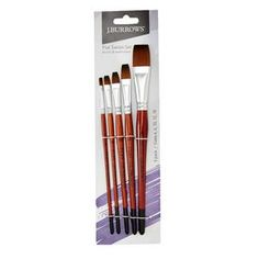 Burrows Flat Taklon Paintbrush 5 Pack and much more. Christmas Gift Guide, Paint Brushes, Stationery, Tableware, Flat, Kids, Young Children, Dinnerware, Bass