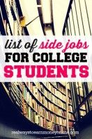 Are you a college student looking to pull in some extra bucks? Then this list of side jobs for college students should give you some good idea!