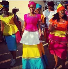 Sepedi African Attire, African Wear, African Women, African Fashion, African Outfits, African Clothes, African Style, Traditional Wedding Dresses, Traditional Outfits