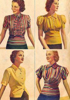 1939 Fashion Cover, 1930s Fashion, 1930s Dress, Vintage Fashion Photography, Blackbird, Historical Clothing, Fashion History, 1920s, Vintage Ladies