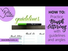Video tutorial about writing with a slant and New Free Practice Guide Sheets – Kelly Creates