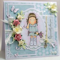 A Sprinkling of Glitter: 2 Tilda's Today! - Simon Says Stamp & Addicted To Stamp DT Cards