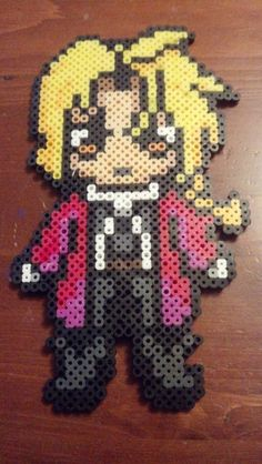 Edward Elric Chibi perler bead sprite by OceanicCorpse