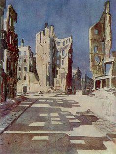 Берлин. Разрушенные здания 1945. Александр Дейнека (1899-1969)