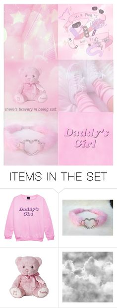 """""""ddlg aesthetic"""" by fatallylovely ❤ liked on Polyvore featuring art, Pink, pastel, moodboard, ddlg and aesthetic"""