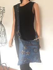 Jeans Denim Bag Crossbody Paisley Floral Hands Of Hope Designer Fashion Hip Boho