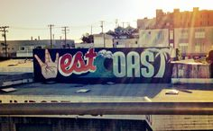 West Coast graffiti in SF San Diego, San Francisco, Santa Monica, The Places Youll Go, Places To Go, Wanderlust, Cali Girl, City Of Angels, California Dreamin'