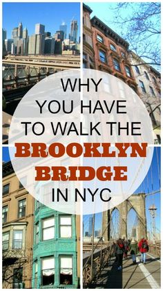 Why you have to Walk the Brooklyn Bridge Top Things to Do in New York City: The Brooklyn Bridge in NYC is a marvel and the views are phenomenal but the areas around both ends of the bridge are full of history and beautiful architecture. New York Travel Guide, New York City Travel, Map Of New York City, New York City Tours, Places In New York, Brooklyn New York, Upstate New York, The Bronx New York, Brooklyn Food