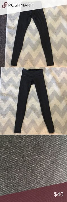 Black and grey striped wunder unders These are skinny style, thinner material and look grey from afar but are actually very finely striped black and grey. lululemon athletica Pants Leggings
