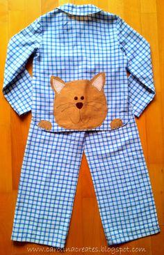 Carolina Creates: boy pyjama size 122