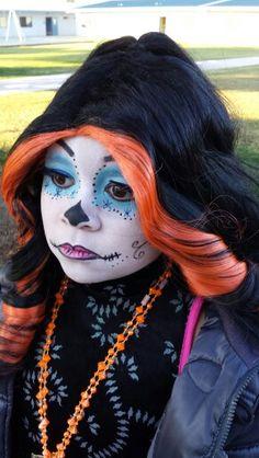 skelita calaveras monster high make up - Skelita Calaveras Halloween Costume