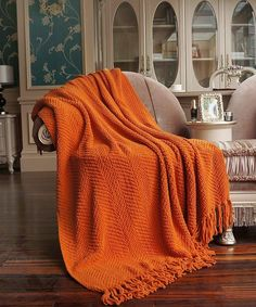 BNF Home Throw, Knitted Tweed Throw, Couch Cover Throw Blanket, Burnt Orange, Burnt Orange Living Room Decor, Orange Rooms, Orange Home Decor, Bedroom Orange, Orange Interior, Orange Decorations, Burnt Orange Decor, Orange Blanket, Backgrounds