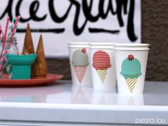 Decorate party cups with Silhouette's Washi Tape sheets! #SilhouetteChallenge