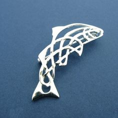 Salmon of Knowledge Brooch CB0071 - Brooches - Celtic Silver ...