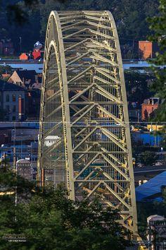 WILD shot of the West End Bridge viewed head on........