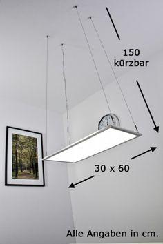 LED Panel Panel Hängelampe Pendellampe Bürolampe Büroleuchte Hängeleuchte