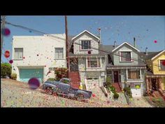 Such a magical video!  Hundreds of thousands of colorful bouncy balls launched in the streets of San Francisco.
