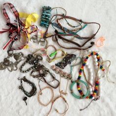 Juniors jewelry bundle. Mixed bag of ribbons, necklaces and bracelets. Jewelry