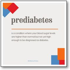 """""""Prediabetes can be thought of as a stepping stone to type 2 diabetes. It is defined as a condition where..."""" Weight Loss Goals, Healthy Weight Loss, What You Can Do, I Can, Blood Sugar Levels, Superfoods, To Tell, Diabetes, Conditioner"""