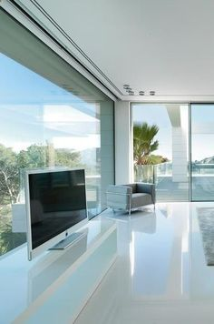 Another view of the bedroom inside the Villa Chameleon in Spain _